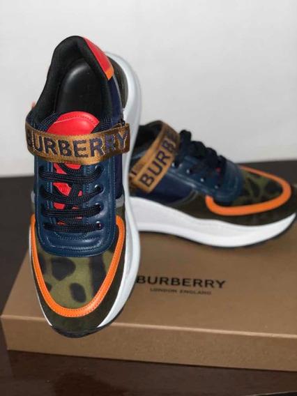 Tênis Burberry Ronnie Com Velcros