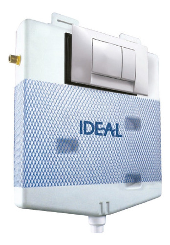 Imagen 1 de 6 de Deposito De Embutir  Ideal Suma Dual  + Tapa Tecla Blanca