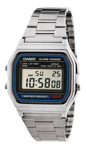 Relógio Casio Unisex Vintage Prata A158wa-1df Original