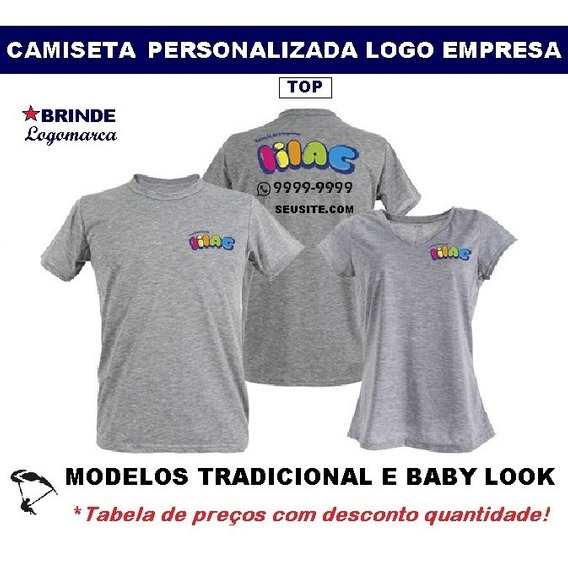 Camisetas Top Personalizadas Logo Empresas Uniforme - 01 Pç