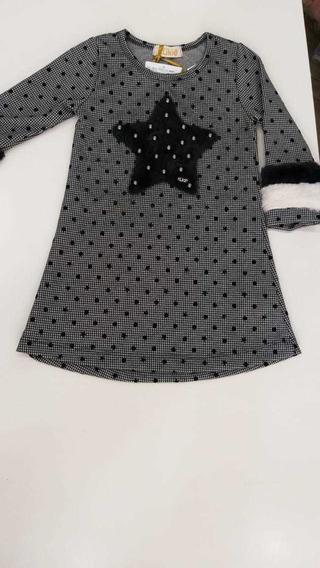 Vestido Bebê Infantil Manga Longa Kukie Tamanhos 6ao12 22135