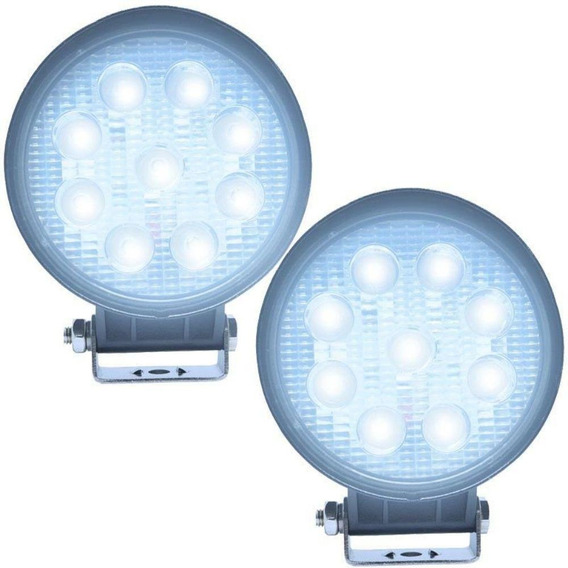 Farol Iluminação Milha Led 9 Leds 12/24v Off Road Auxiliar