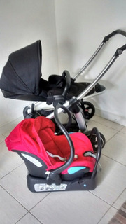 Carrinho De Bebê Elea + Bebê Confort + Base Para Carro
