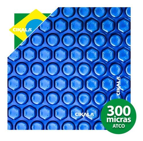 Imagem 1 de 10 de Capa Termica 300 Micras Azul Piscina Aquecida Atco 26x4 Mts