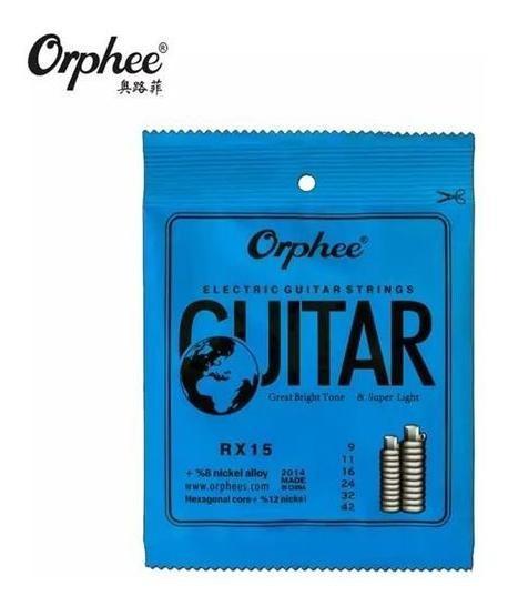 Cuerdas Para Guitarra Electrica Orphee 09