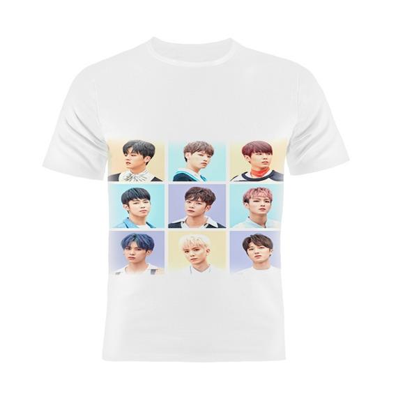 Camiseta Manga Curta Kpop Sf9 Coreanos