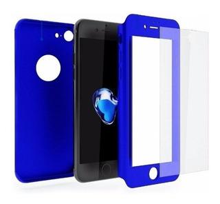 Capa 360º iPhone 6 - 7 G S E Plus + Película Vidro - Ótima