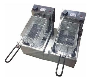 Freidora industrial ROA 16 L plata