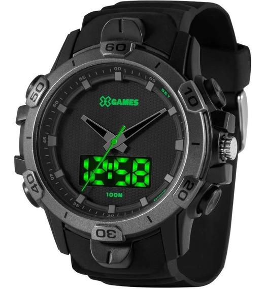 Relógio Masculino X-games Orient Black Original Xmppa298pepx