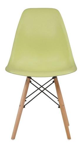 Imagen 1 de 10 de Silla Réplica Eames - Verde