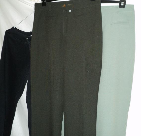 2 Pantalon Vestir Mujer Poliester Y Jogging Talle 2 En Lote
