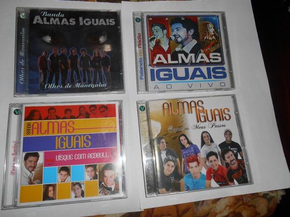 Kit 4 Cds Da Banda Almas Iguais+cd Da Banda Corpo E Alma Pr