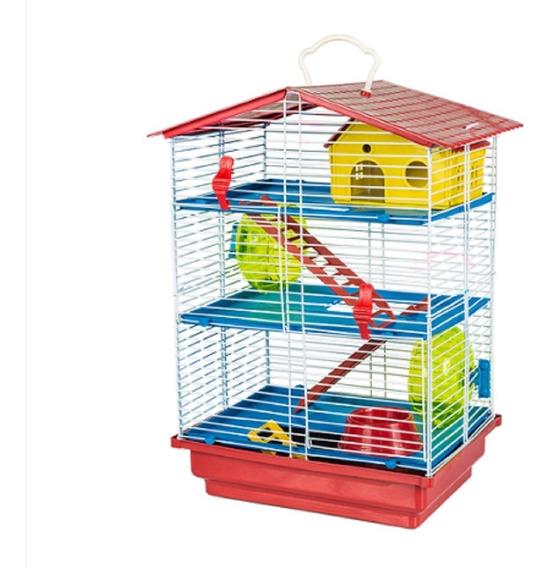 Gaiola Hamster 3 Andares Luxo Linda