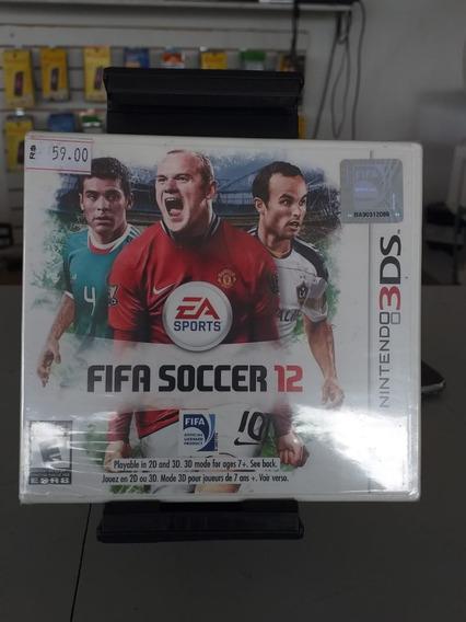 Jogo Nintendo 3ds Fifa Soccer 12 Novo Lacrado