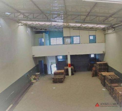 Imagem 1 de 4 de Galpão Para Alugar, 300 M² Por R$ 5.000,00/mês - Piraporinha - Diadema/sp - Ga0300