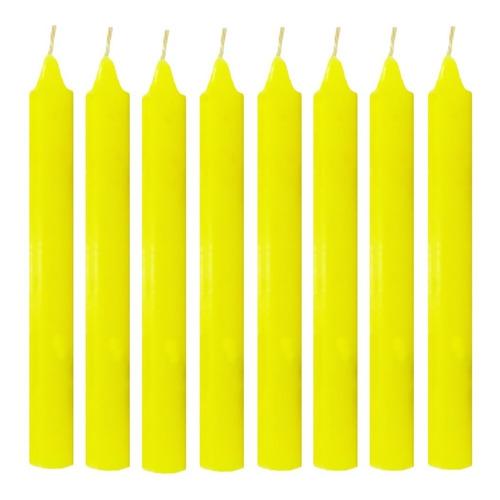 Vela Quilo Palito Amarela 1 Kg 28 Velas Coloridas
