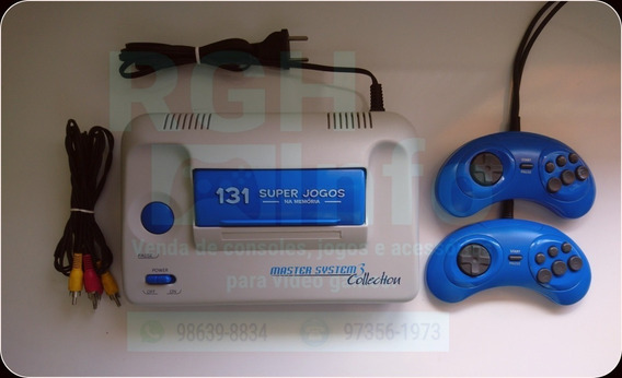Video Game Master System 3 Com 131 Jogos Na Memoria