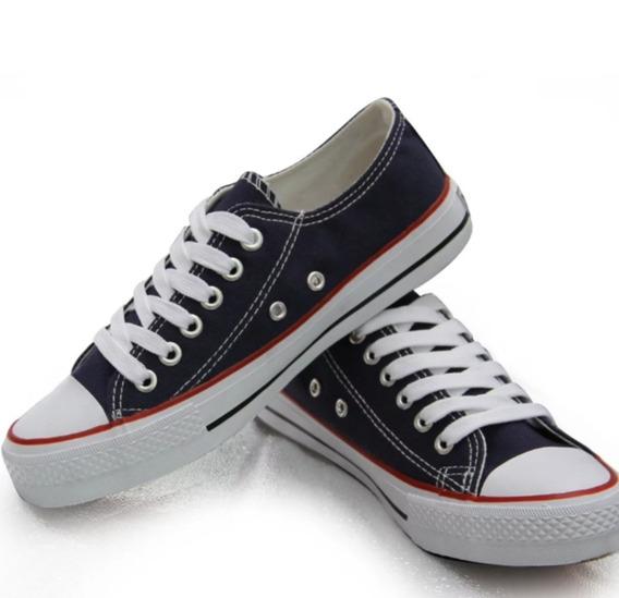 Tênis Converse All Star Feminino Preto Branco Lona Top