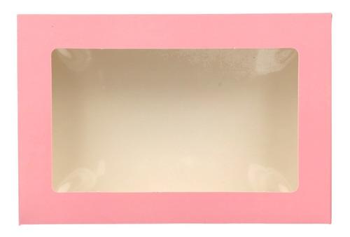 25 Caja Con Visor Desayunos Regalos (23x15,5x6,5cm) Colores