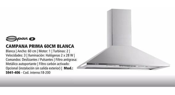 Campana Spar Prima 60cm Blanca Deslizante