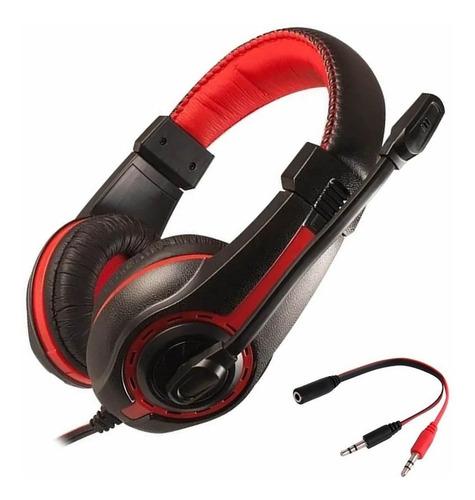 Imagen 1 de 9 de Auricular Gamer Con Microfono Pc Noga St-819 C/ Adap Ps4 Cel