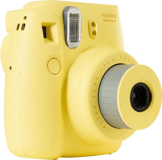 Câmera Fuji Instax Mini 8 Amarela De Vitrine