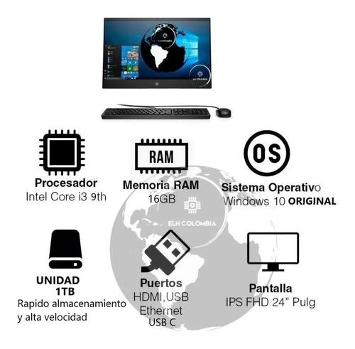 Todo En Uno Hp 24 Core I3 Ram 16gb Ips Aio Ssd 1tb Window 10