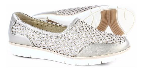 Zapatos Calzado Mocasines Vestir Dorado Dama Oro 1165 Onena