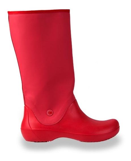 Botas De Lluvia Mujer Eva Livianas Rojo