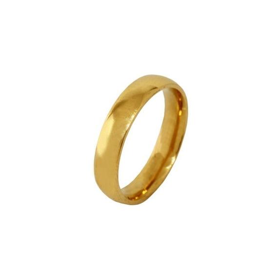 Aliança Casamento Ouro Amarelo 18k - 4,5mm - Cod 434