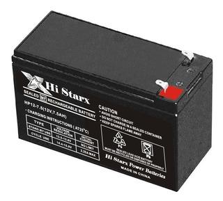 Bateria Gel 12v 7,5ah 7a Recargable Ups Alarma