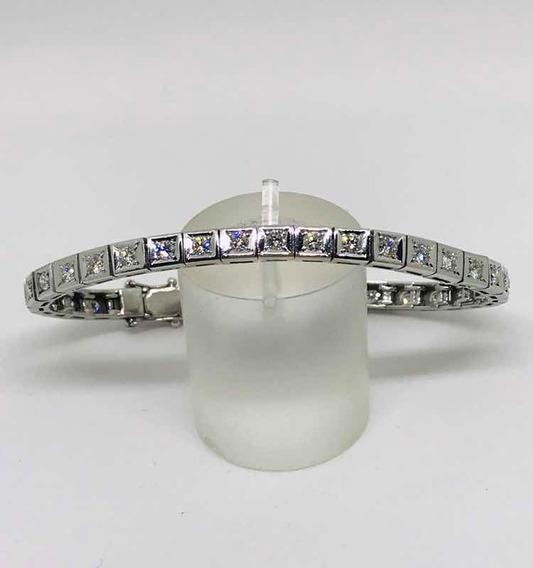 Glitter Joias - Pulseira Riviera Ouro E 340 Pontos Diamantes