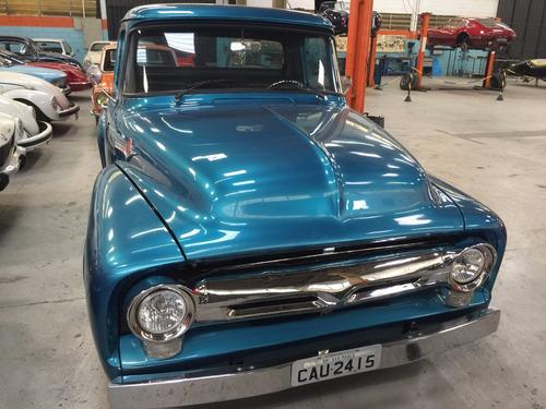 Imagem 1 de 14 de Ford - F 100 - 1959 - Azul Metalica