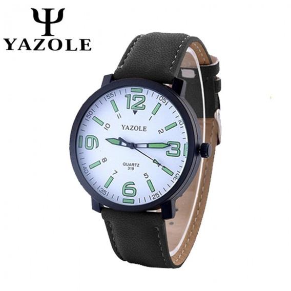 Reloj Casual Acero Cuarzo Marca Yazole Modelo 319 Blanc/noir