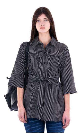 Camisa Rayas - Negra . Celeste - Lila - Blue Air Jeans