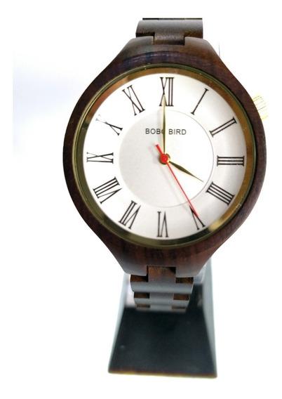 Relógio Feminino Bobo Bird De Madeira - Pronta Entrega