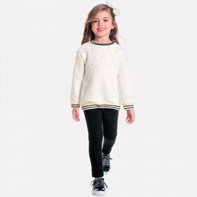 Conjunto Infantil Feminino Casaco + Legging Milon