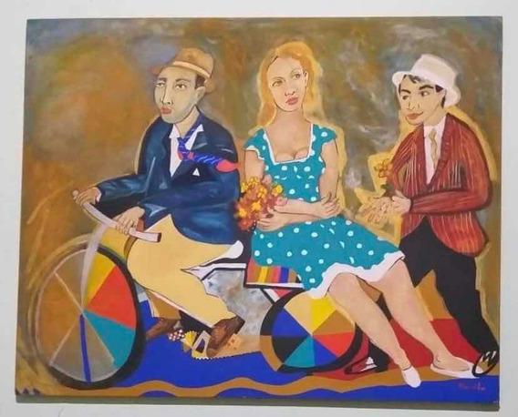 Pintura A Óleo - Quadro A Paquera, De Murilo Ribeiro