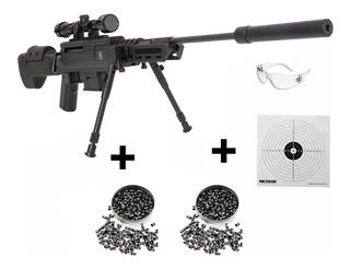 Carabina Pressão Black Ops Sniper Gás Ram + Chumbinho + Alvo