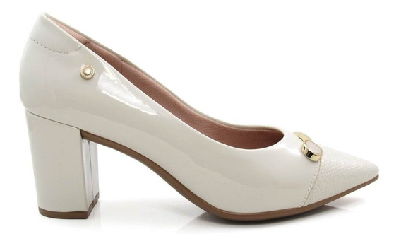 Sapato Scarpin Salto Grosso Feminino Olfer Shoes 1280-108
