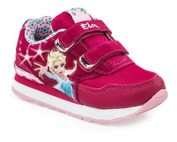 Zapatillas Addnice Frozen Magic Niña Con Luz Fucsia Original
