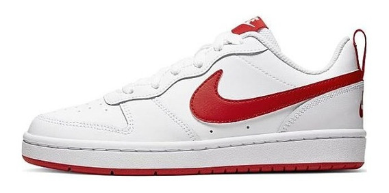 Tenis Nike Court Borough Blanco/rojo Bq5448 103