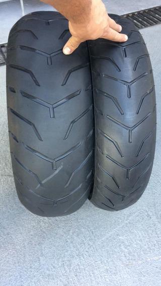 Pneus 140/75/17 E 200/55/17 Dunlop Usados Bons Da Harley