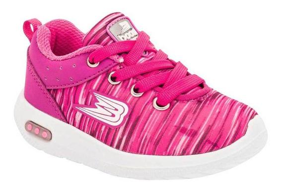 Tenis Boost Niña 018 Color Fiusha Talla 15-17 -shoes