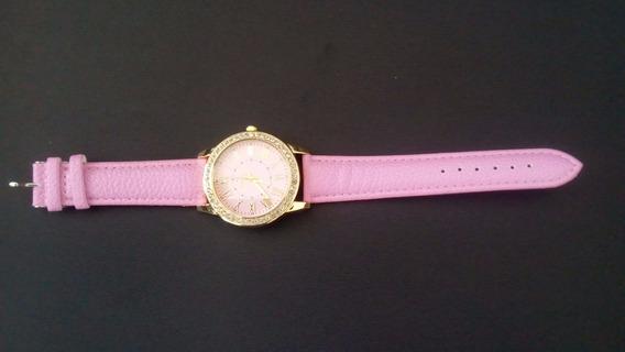2 Relógio Feminino Geneva Com Strass Quartzo Analógico