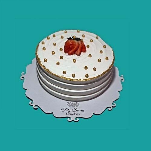 Bases P/ Bolo Cake Board Arabesco 45cm Mdf Branco C/100 Pça