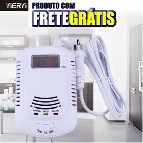 Detector Sensor Vazamento Gás Natural Alarme Display Oferta