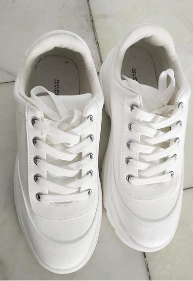 Zapatillas H&m Blancas Talle 37