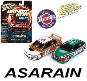 Mitsubishi Lancer & Honda Civic Rally Johnny Lightning 1/64
