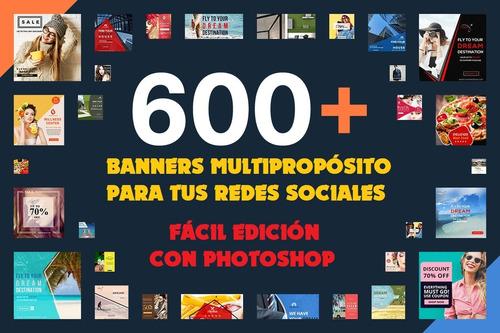 600+ Banner Editables Multipropósito Para Redes Sociales